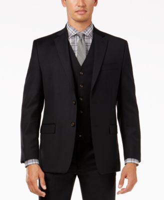 Plain black sports jacket